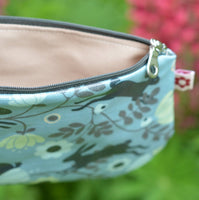 Wild Hare Blue Oilcloth Purse