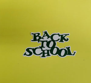 Back To School Die Cut