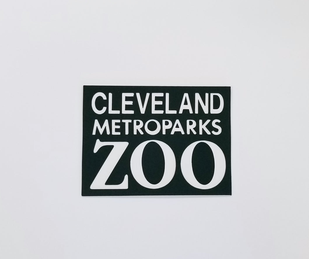 Cleveland Metroparks Zoo Die Cut