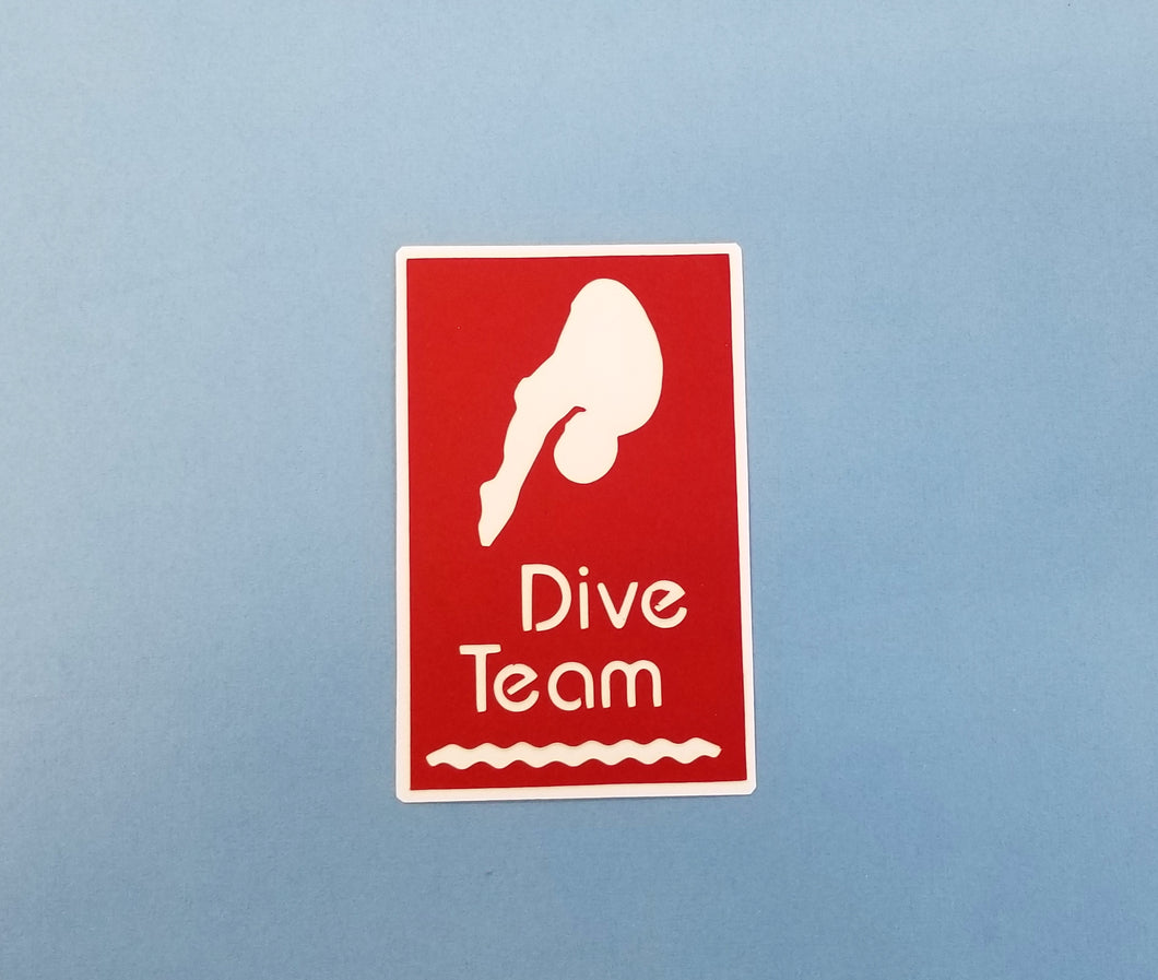 Dive Team Die Cut