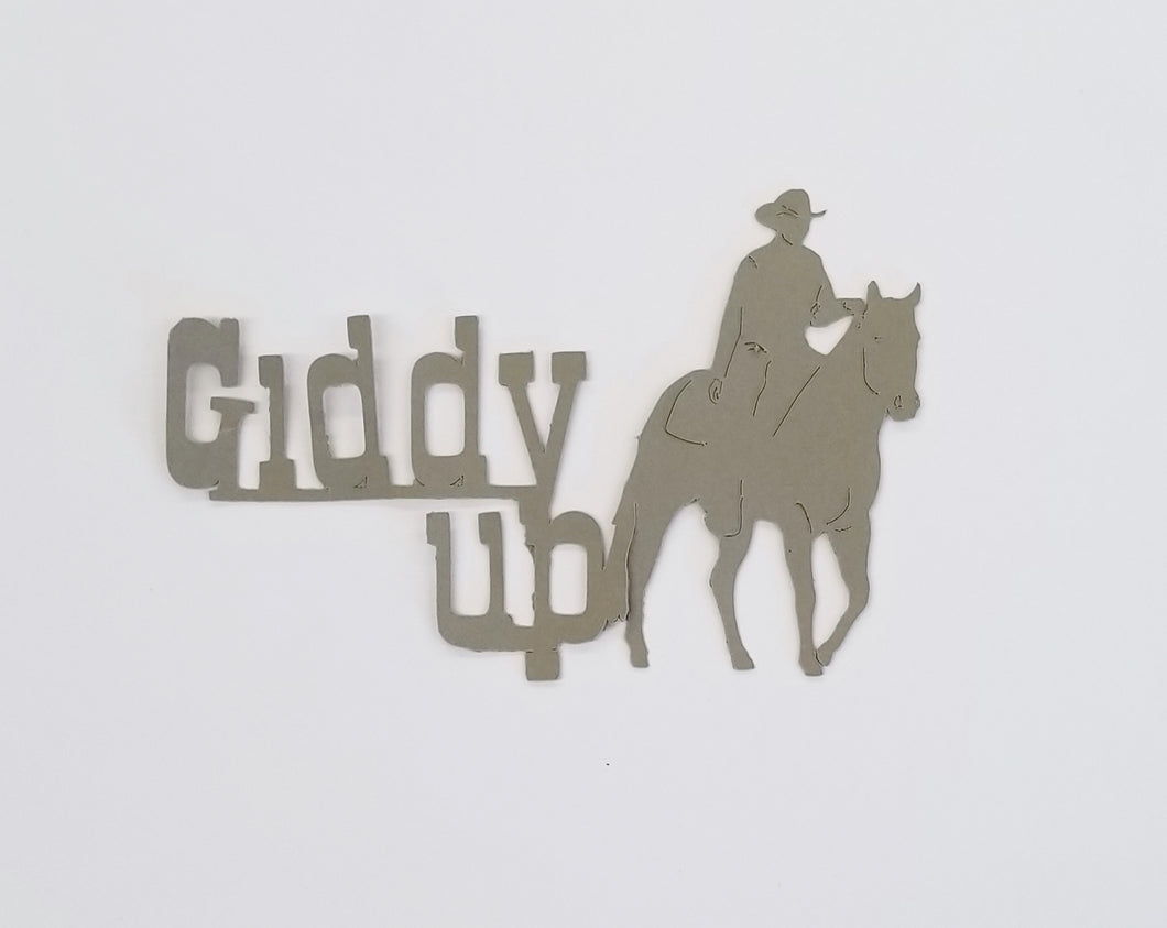 Giddy Up - Horse - Die CUt