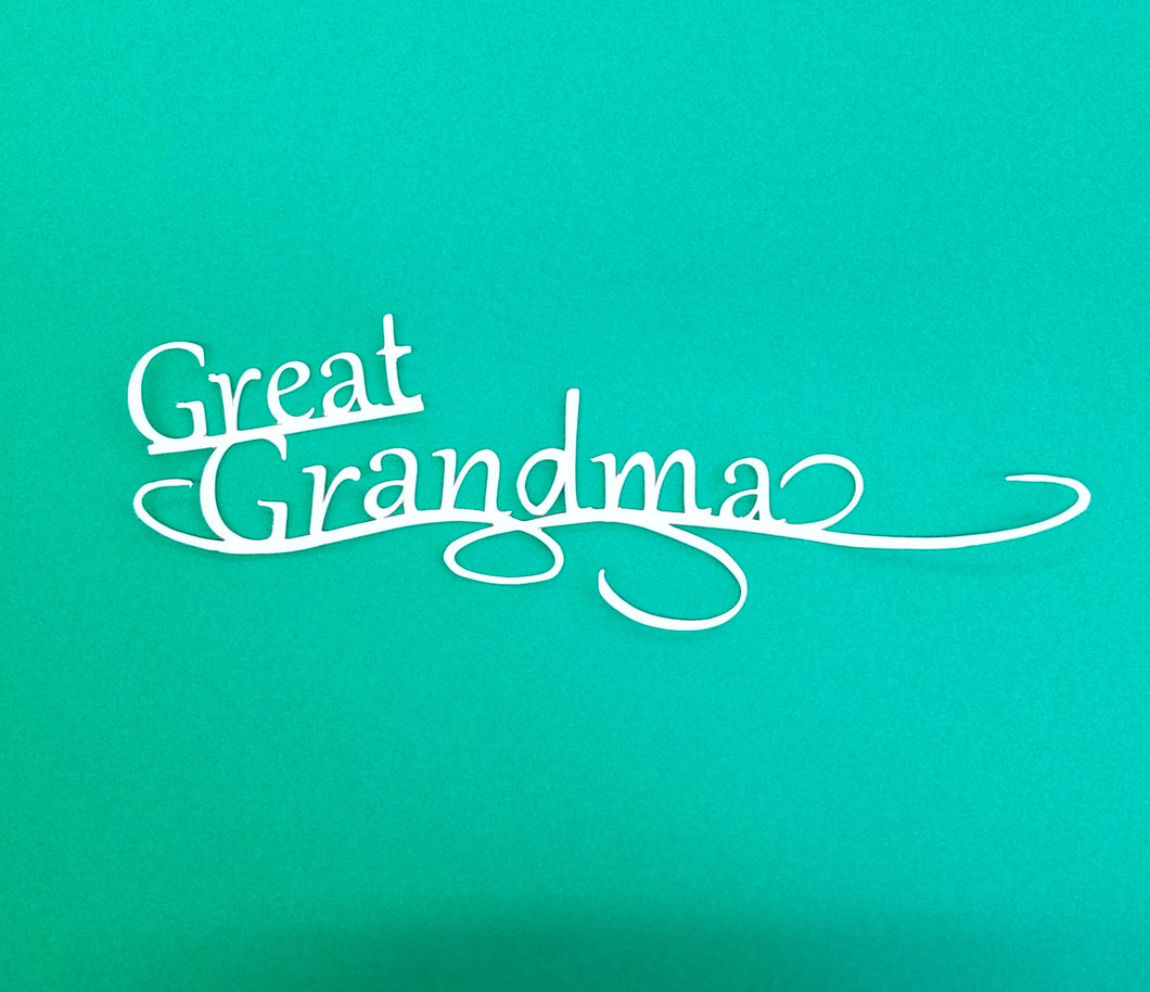 Great Grandma Die Cut
