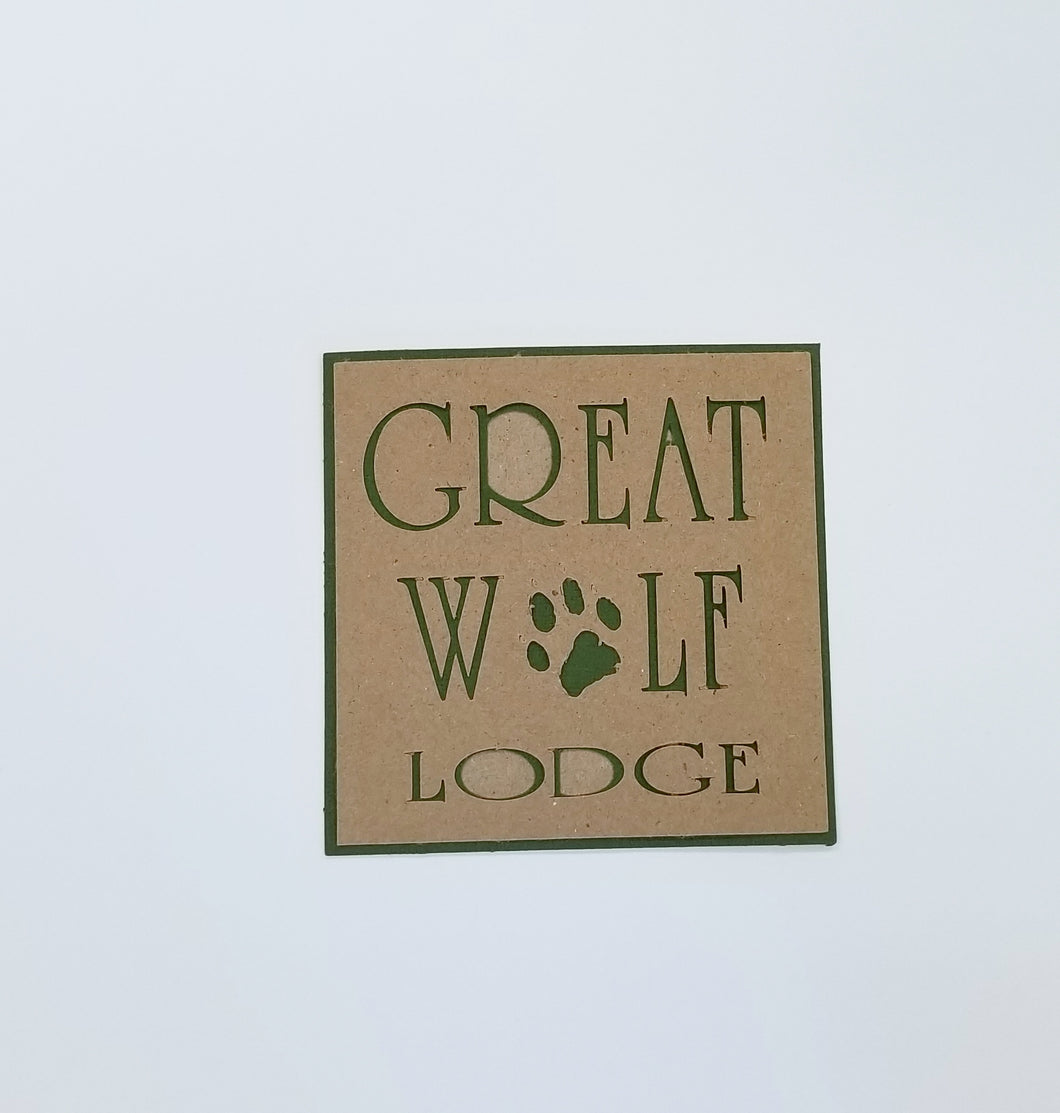Great Wolf Lodge Die Cut