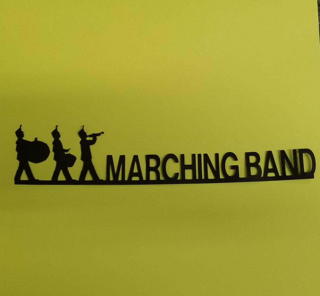 Marching Band Die Cut