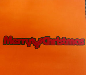 Merry Christmas Die Cut
