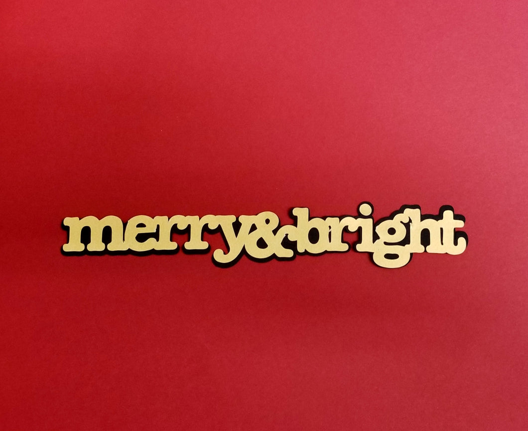 Merry and Bright Die Cut