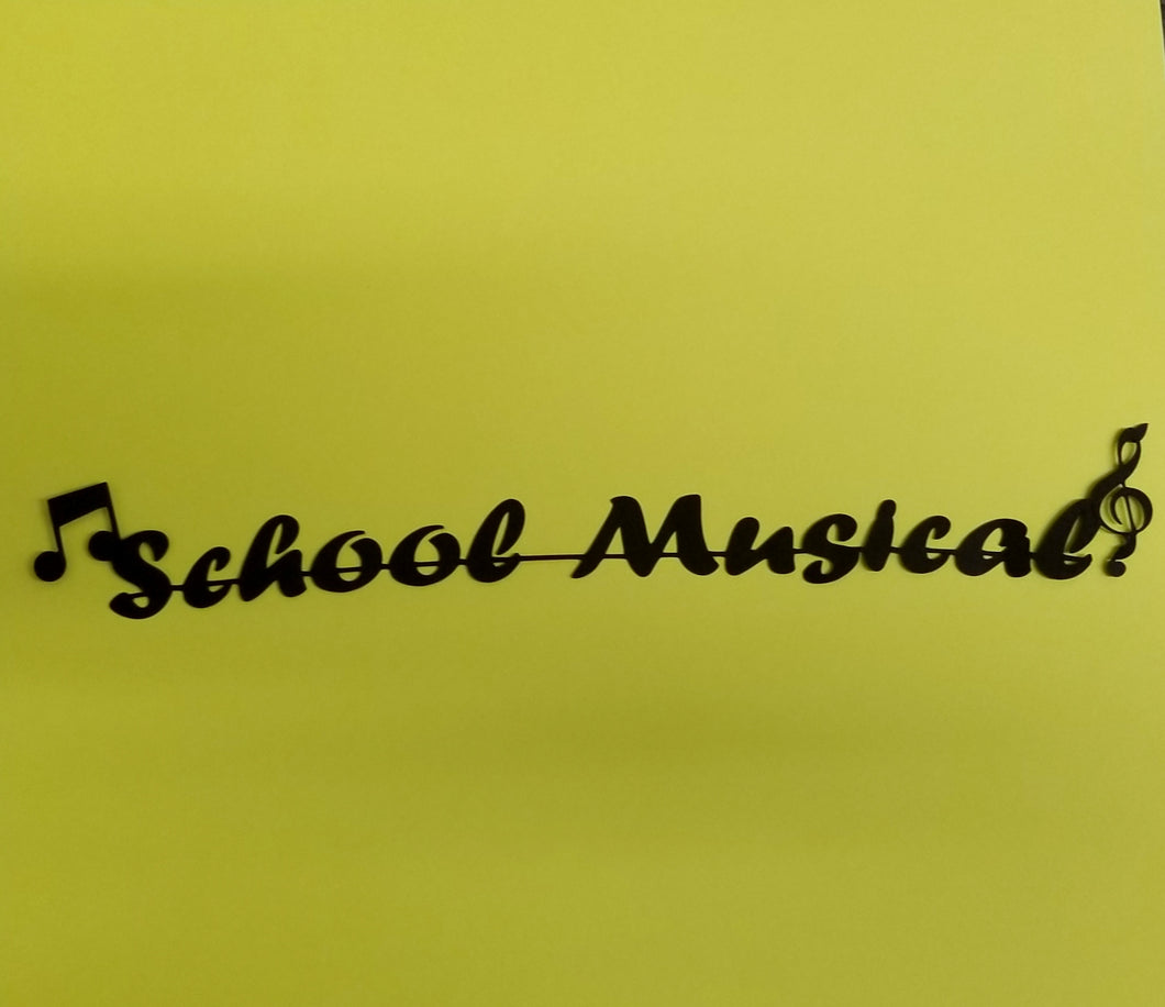 School Musical Die Cut