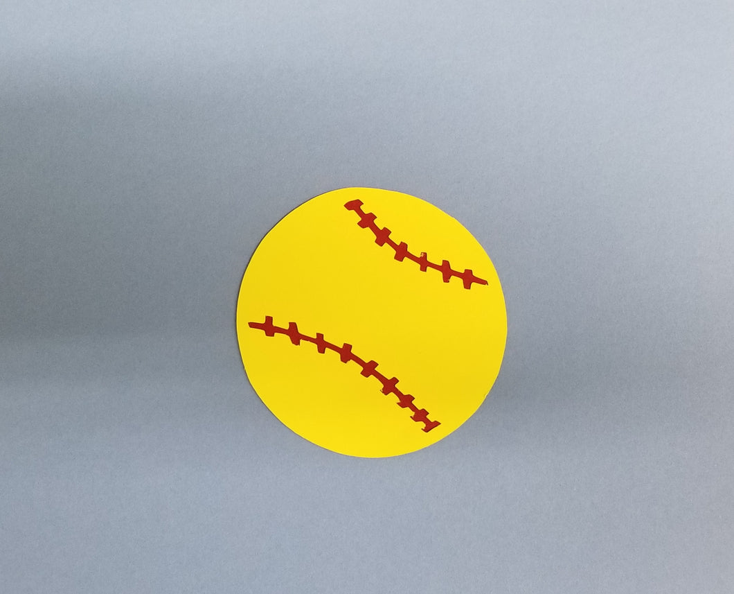 Softball Die Cut