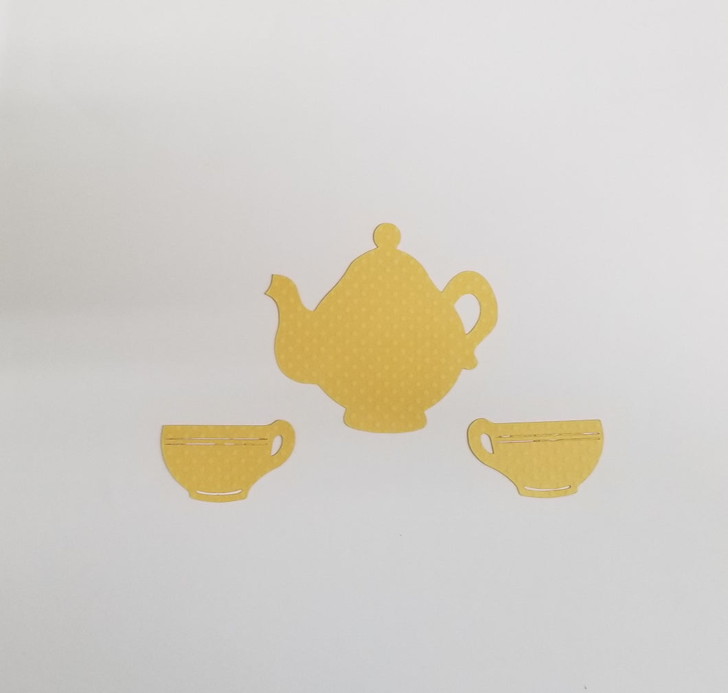 Tea Set Die Cut