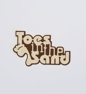 Toes In The Sand Die Cut