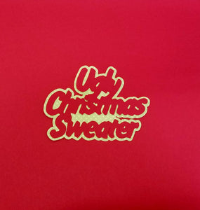 Ugly Christmas Sweater Die Cut