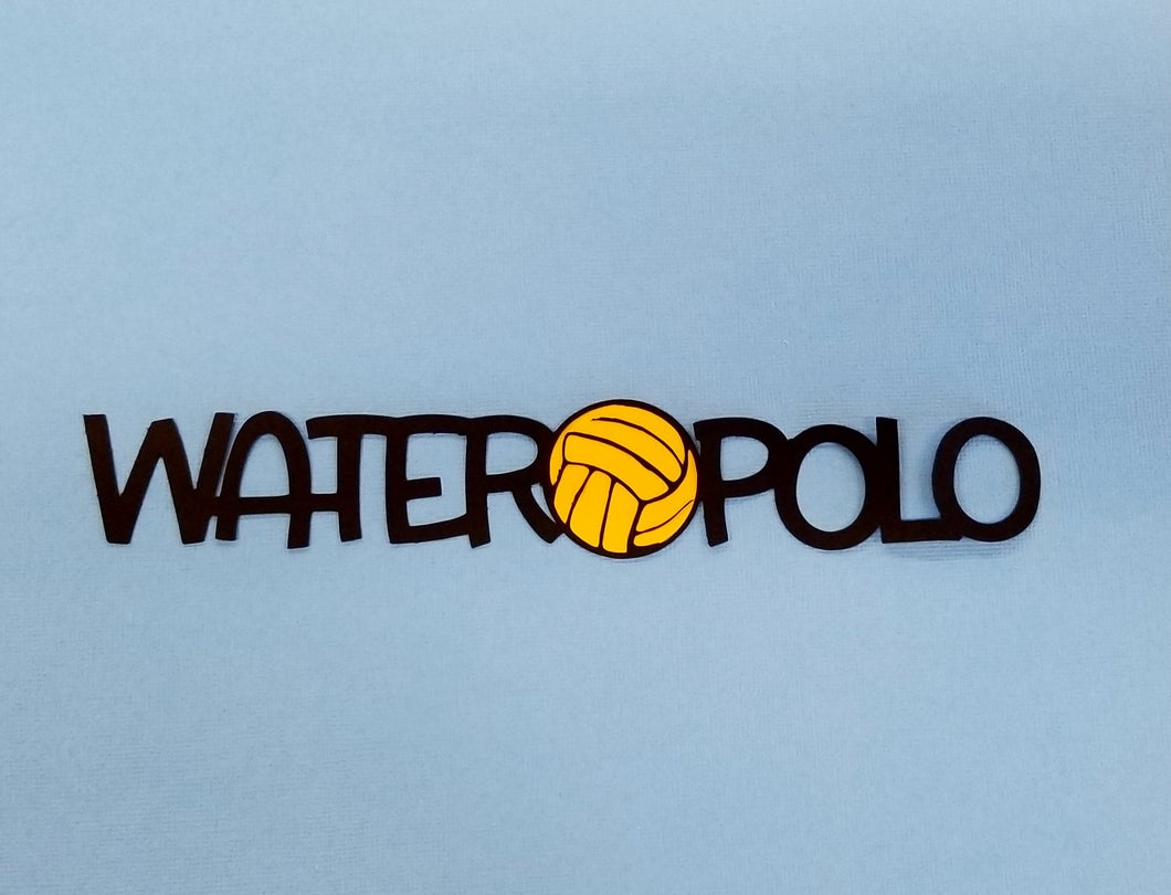 Water Polo Die Cut