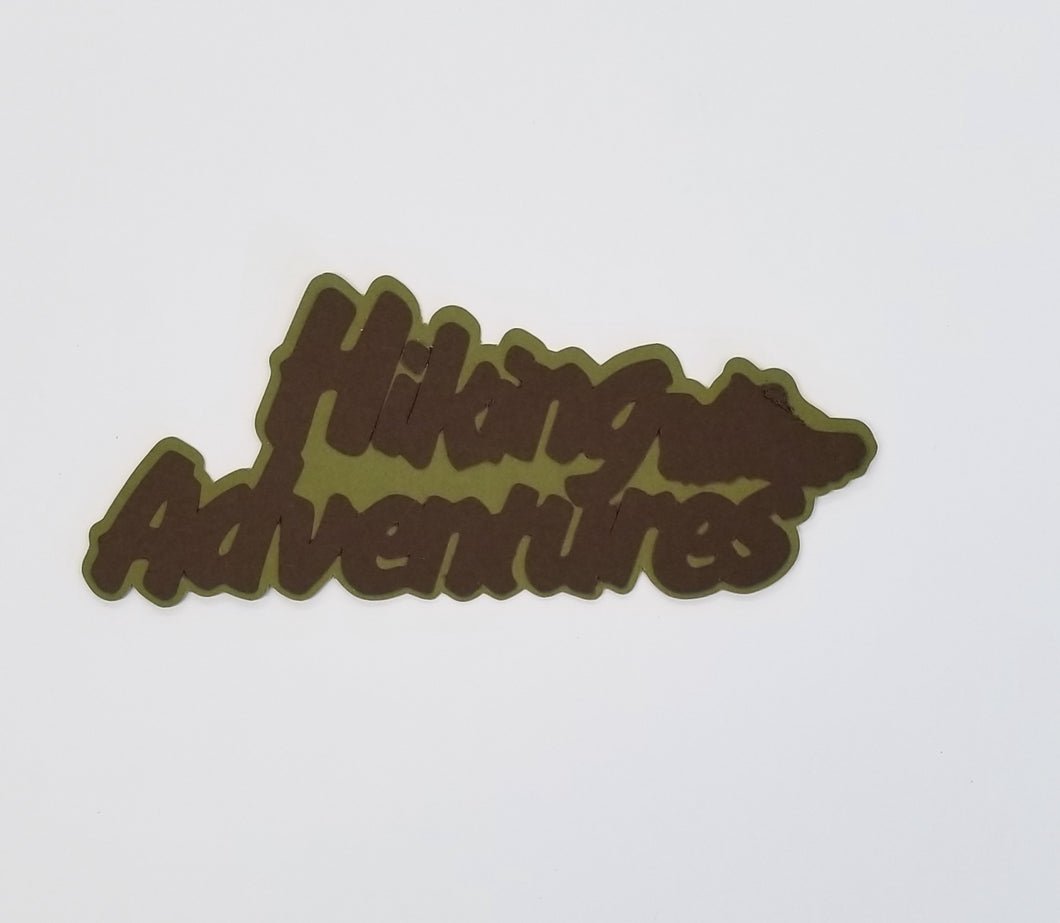 Hiking Adventure Die Cut