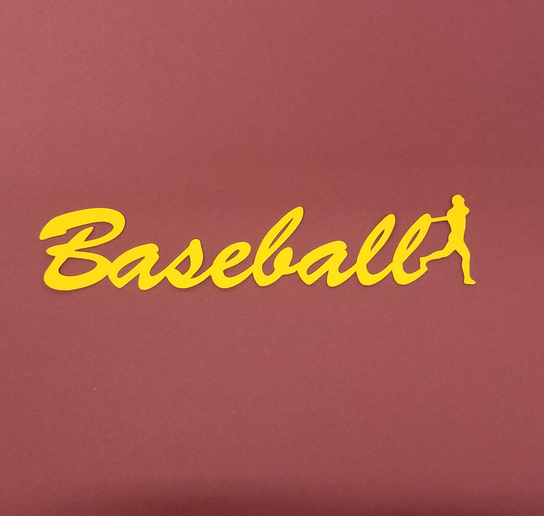 Baseball Die Cut