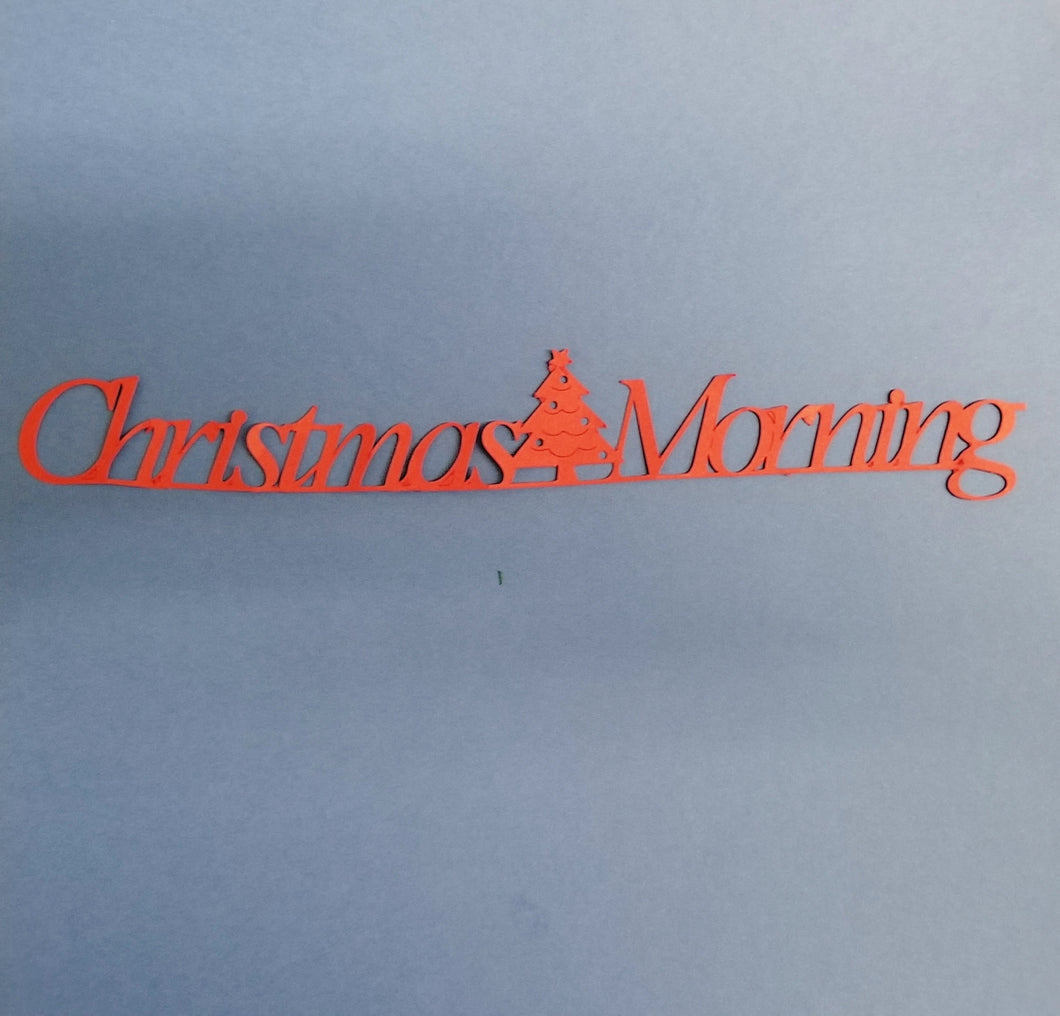 Christmas Morning Die Cut