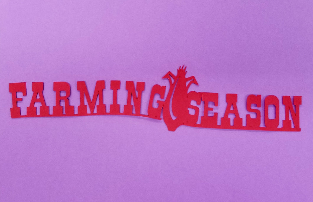 Farming Season Die Cut