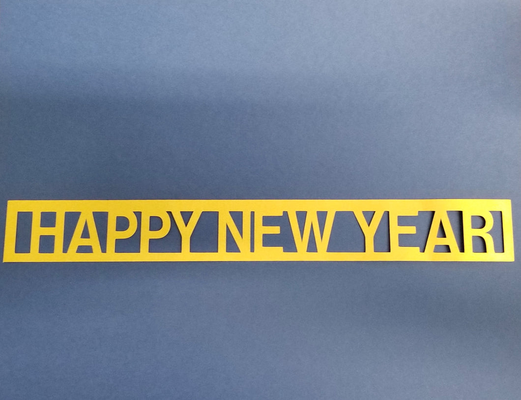 Happy New Year Die Cut