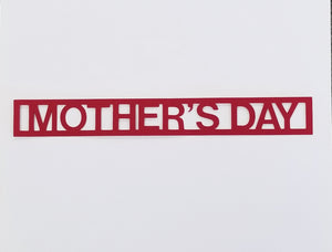 Mother's Day Die Cut