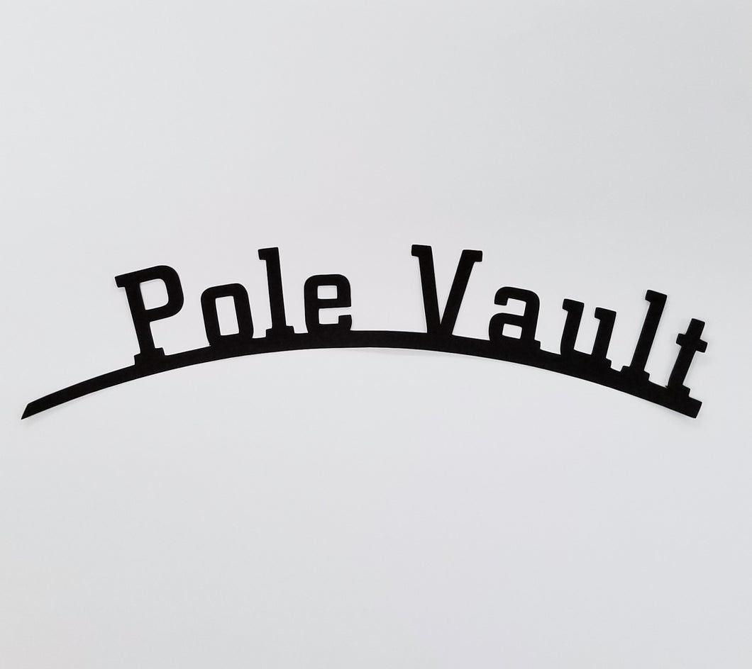 Pole Vault Die Cut