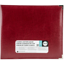 "Load image into Gallery viewer, We R Classic Leather D-Ring Album 12""X12"""
