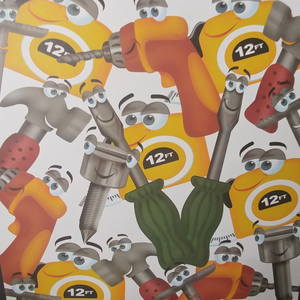 Tool Tots Collage Paper