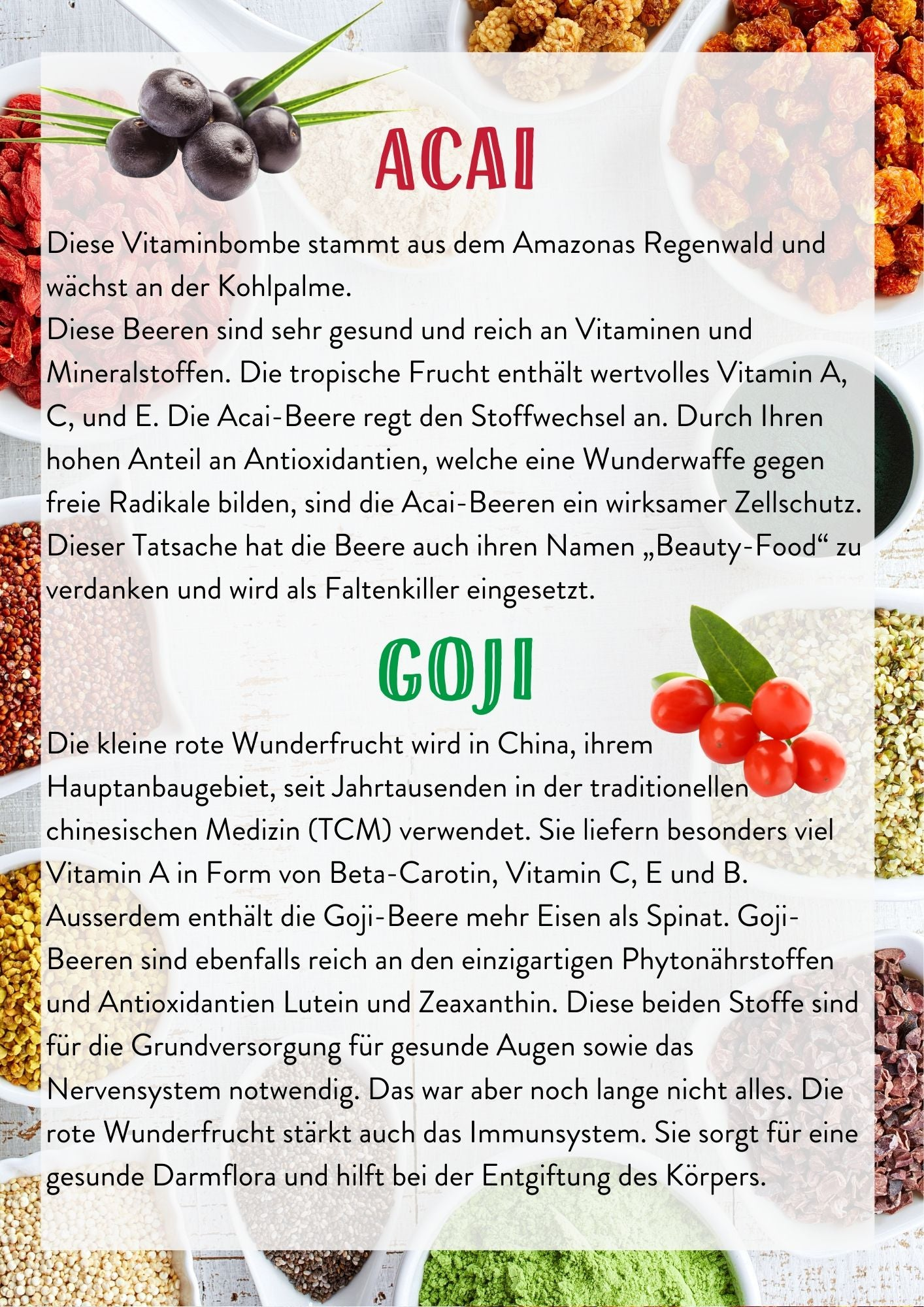 Acai Goji Superfoods