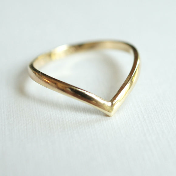 Gold Contour Ring 2mm