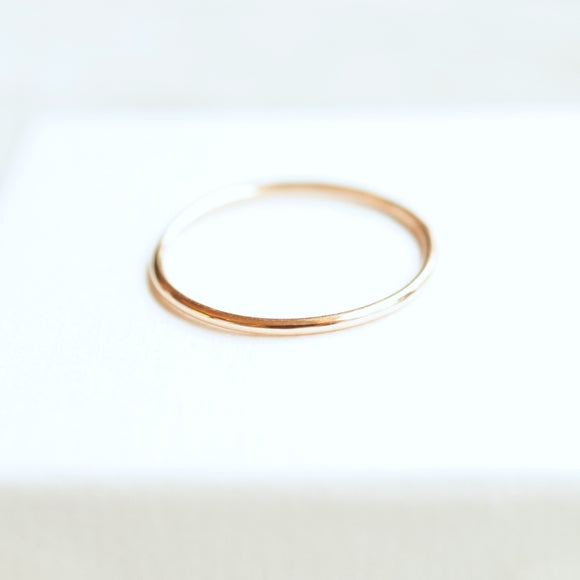 simple thin gold ring recycled 10k gold