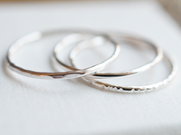 variety of silver stacking rings