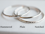 3 slim stacking rings with lables
