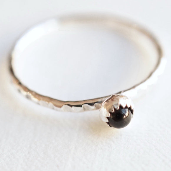 Tiny gemstone stacking ring
