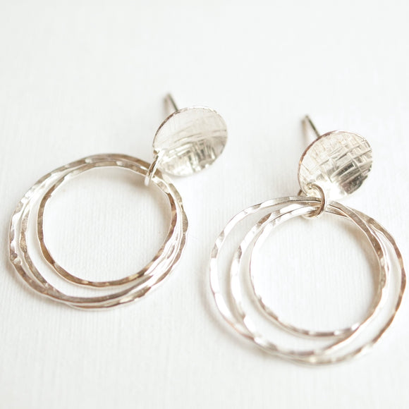 vintage style silver earrings