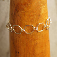 Hexagon links bracelet