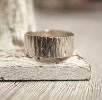 Extra large wide silver ring