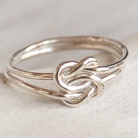 Knot ring silver double knot