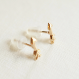 arrow stud earrings with silicon backs