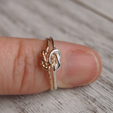 double knot ring 16 gauge