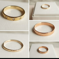 Sample sale gold rings