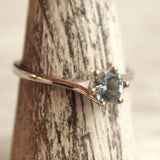 March birthstone aquamarine ring
