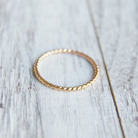 Gold filled  twist ring
