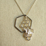 sterling silver honey bee necklace