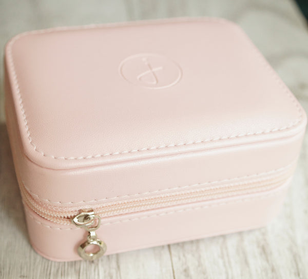 Jewellery Travel case, pink with Juliet logo