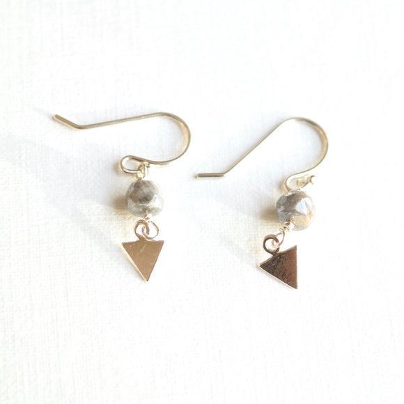 dainty dangle gemstone bead earring