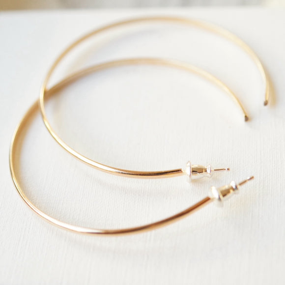 large gold filled hoops
