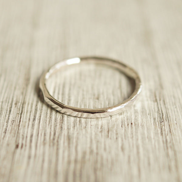 Sterling silver stacking ring 14g