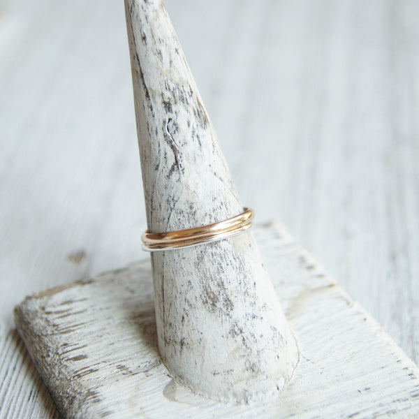Simple 2mm wide 14k gold filled ring