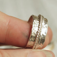 all sterling silver spinner ring