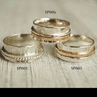 silver spinner ring selection