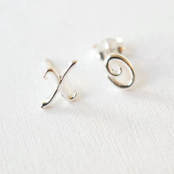 Silver XO Earrings