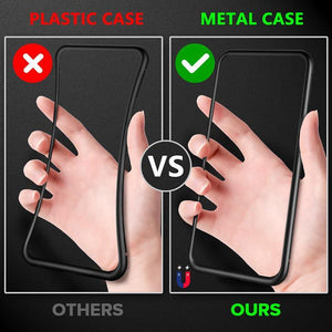 2019 Latest!!!Anti-Peeping Privacy Magnetic Adsorption Two Side Tempered Glass Phone Case For iPhone
